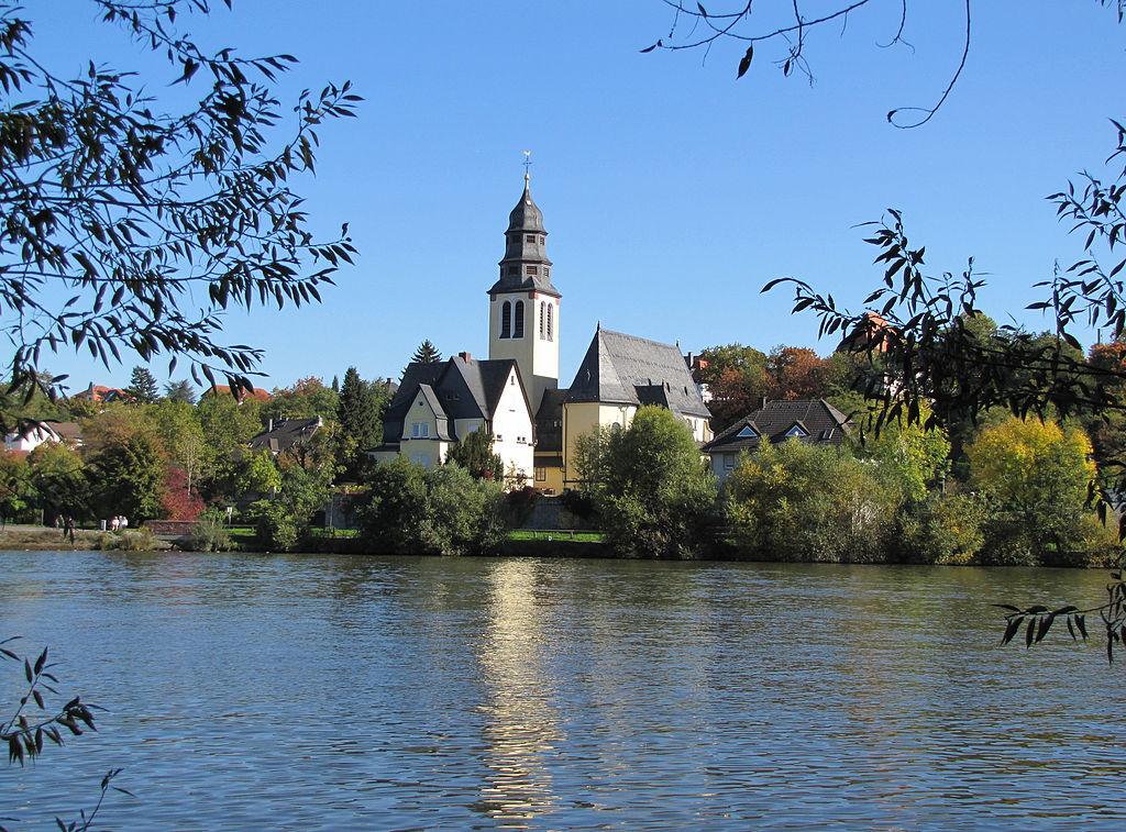 kelsterbach, kirche, mainufer