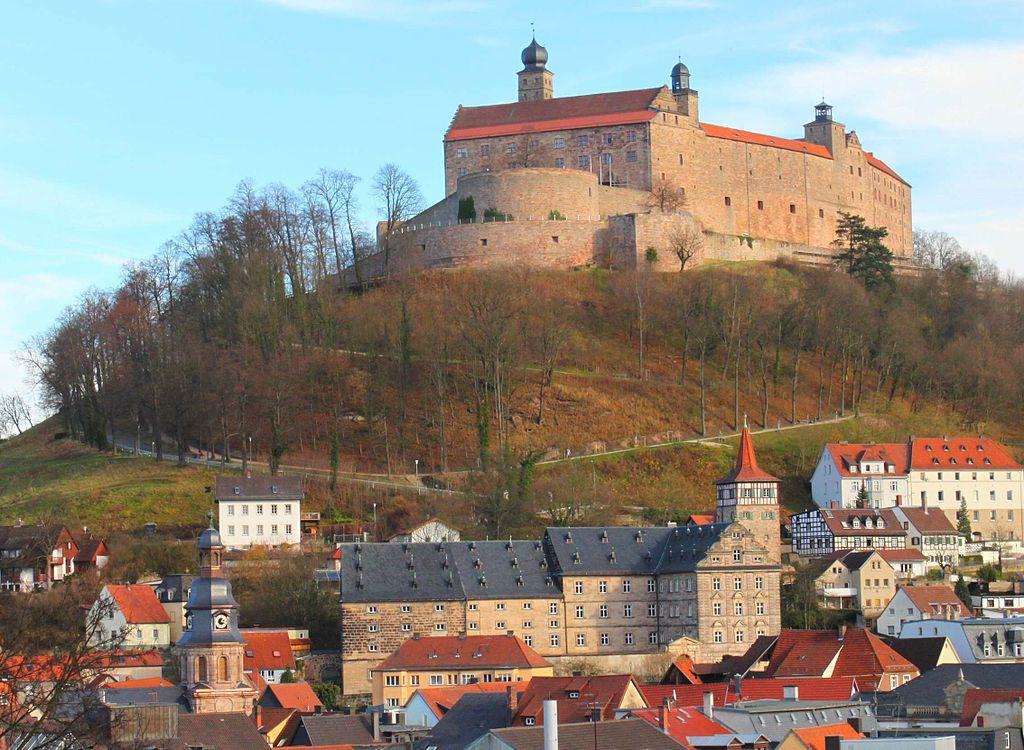 Blick Auf Kulmbach Mit Burg